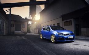 Картинка car, машина, авто, city, тачка, turbo, wheels, автомобиль, cars, auto, golf, blue, golf r, revo, ...