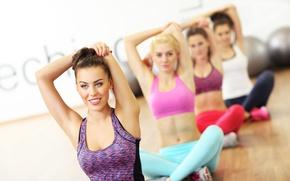 Картинка pose, female, Yoga, elongation