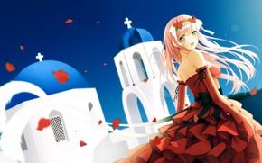 Картинка девушка, красное платье, Darling In The Frankxx, Милый во Франксе