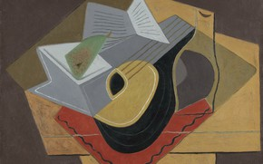 Картинка кубизм, 1926, Juan Gris, Черная мандолина