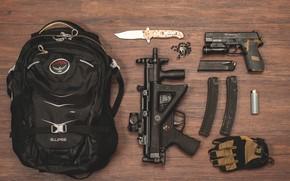 Картинка пистолет, зажигалка, нож, автомат, крестик, ранец, обоймы