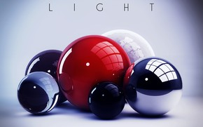 Картинка colors, colorful, abstract, light, balls, rendering, digital art, geometry, Spheres