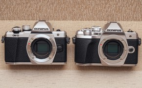 Картинка пара, фотоаппараты, Olympus OM-D