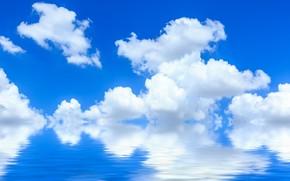 Картинка Небо, Природа, Облака, Отражение