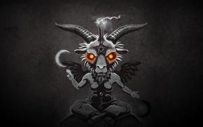 Картинка Baphometh, Бафомет, Satan, пентаграмма., Solve et Coagula