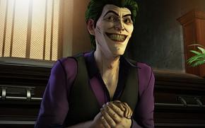 Картинка Игра, Улыбка, Джокер, Зубы, Smile, Joker, Злодей, Game, DC Comics, Telltale Games, Зеленые волосы, Комиксы, ...