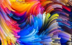 Обои rainbow, painting, colorful, abstract, colors, splash