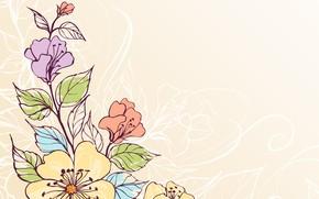 Обои текстура, вектор, цветы