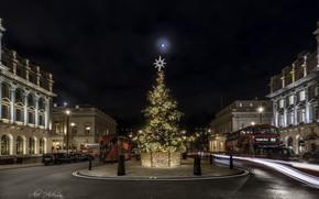 Картинка ночь, город, праздник, London