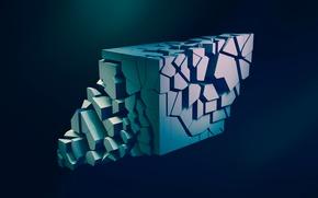 Обои абстракция, герметрия, объем