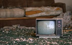 Картинка фон, телевизор, хлам