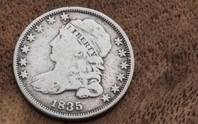 Картинка макро, фон, монета