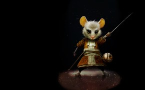 Картинка шпага, детская, арт. мышка