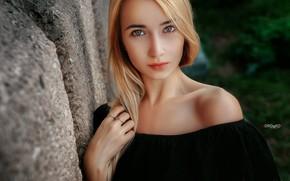 Картинка взгляд, лицо, модель, портрет, декольте, плечи, Alexander Drobkov-Light, Аня Паращук