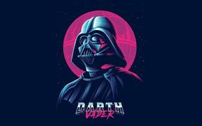 Обои Synthpop, Retrowave, Дарт Вейдер, Star Wars, Звезда Смерти, Darth Vader, Darkwave, Starwars, Звездные Воины, Death ...
