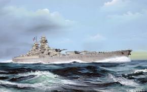 Обои Франция, Ришелье, линкор, линейный корабль французского флота