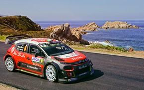 Картинка Море, Авто, Спорт, Машина, Набережная, Гонка, Ситроен, Citroen, Автомобиль, WRC, Rally, Ралли, Tour de Corse, …