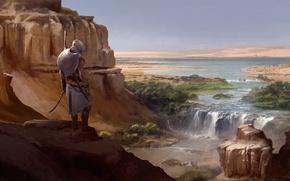 Картинка пустыня, пустошь, египет, ассасин, Assassin's Creed Origins