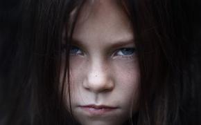 Картинка взгляд, портрет, девочка, Niko Nikolas