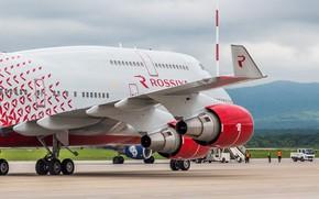 Картинка Boeing, Россия, Russia, Боинг, 747, B-747, Авиакомпания, Б-747