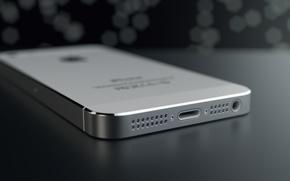 Картинка Apple, Iphone, Rendering, Silver, Macro