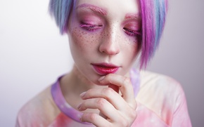 Картинка woman, makeup, Aesthetic