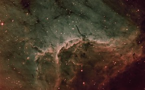 Картинка в созвездии, Лебедя, Пеликан туманность, Pelican Nebula