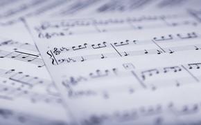Обои ноты, музыка, music, листы, sheet music