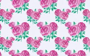 Обои фон, розы, узор, текстура