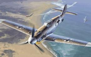 Картинка Messerschmitt, Germany, Fighter, WWII, Gustav, Bf.109G-2/trop, JG77