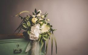 Картинка цветы, букет, лента, декор, wedding