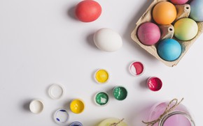 Картинка краски, яйца, пасха, Праздник