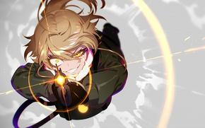 Картинка battlefield, girl, gun, soldier, military, weapon, war, anime, cloud, blonde, asian, rifle, manga, yellow eyes, …