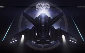 Картинка транспорт, звёзды, техника, аппарат, Sith lord shuttle concept