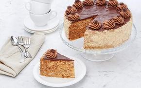 Картинка торт, крем, кусок