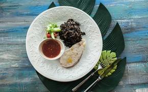 Картинка еда, мясо, гарнир, второе блюдо