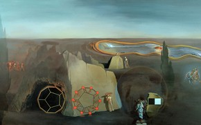 Картинка сюрреализм, картина, Сальвадор Дали, Salvador Dali, В Поисках Четвертого Измерения