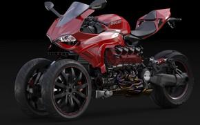 Картинка дизайн, стиль, мотоцикл, Ducati, Дукати