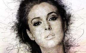 Картинка лицо, портрет, актриса, арт, красавица, Моника Белуччи