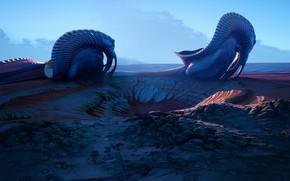 Картинка рендеринг, ландшафт, планета, арт. фантастика, Tyler Smith, Strange Worlds 06 (UE4)