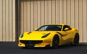 Картинка Ferrari, Yellow, F12, TDF