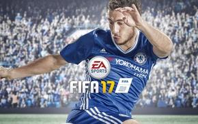 Картинка sport, logo, Adidas, stadium, football, crowd, Chelsea, Fifa, player, Electronic Arts, fans, EA Sports, uniform, …