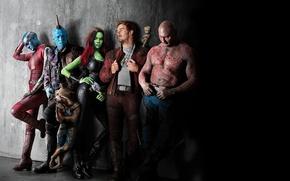 Картинка Nebula, Zoe Saldana, Rocket Raccoon, Gamora, Groot, Drax, Star Lord, The Destroyer, Guardians Of The …