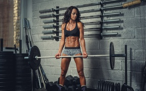 Картинка brunette, workout, fitness