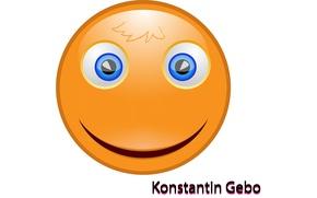 Картинка оранжевый, улыбка, мордочка, смайл, смайлик, красивый, улыбается, добрый, колобок, Smiley