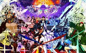 Картинка девушки, аниме, арт, парни, персонажи, Kill La Kill