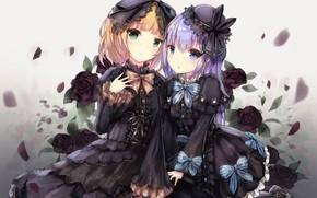 Картинка Аниме, Розы, Девочки, Gochuumon wa usagi desu ka?
