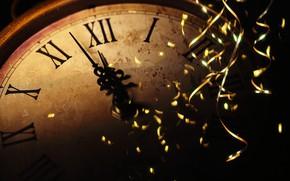 Картинка дождик, праздник, часы, Новый год, new year, полночь, holiday, watch, old watch