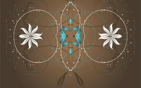 Обои узоры, орнамент, симметрия