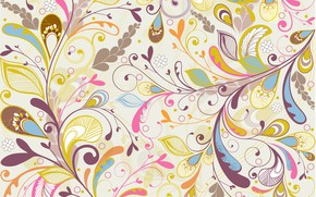 Картинка цветы, текстура, background, floral, Multicolor
